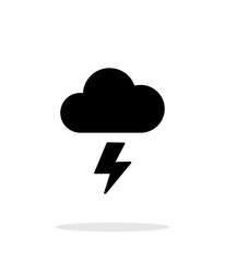 Lightning weather icon on white background.