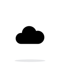 Cloud weather icon on white background.
