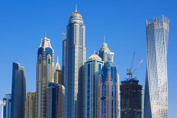 Skyscrapers at jumeirah beach in Dubai