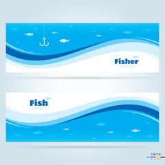 banner fish, cmyk profile