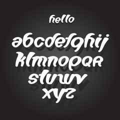 font abc alphabet set