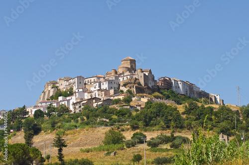 Panoramic view of Acerenza. Basilicata. Italy. - 74446085