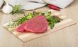 canvas print picture - Raw tuna steak