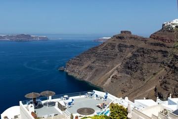 Panorama view of Santorini caldera