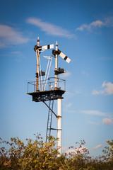 White Train Signal Post
