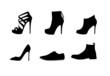 Women shoes vector set - 74447284