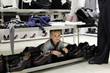 Child at shoe store