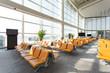 modern airport waiting hall interior - 74449209