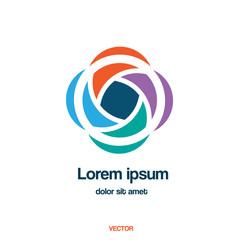 Abstract creative vector logo template