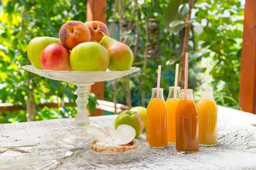 Fresh fruit and juice