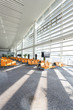 modern airport waiting hall interior - 74449426