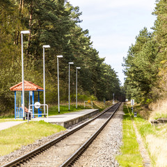 train station of the baederbahn in Trassenheide