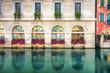 Kolorowa fasada budynku Treviso,Włochy. - 74450000