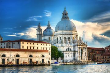 Widok na Bazylike Santa Maria della Salute Wenecja,Włochy.