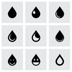 Vector drop icon set