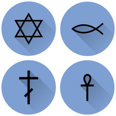 a small set of religious symbols