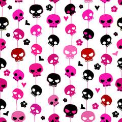 hanging skulls seamless pattern
