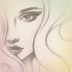 woman portrait  .abstract  art .fashion background