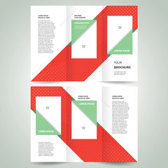 brochure design template vector trifold geometric abstract, cmyk