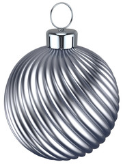 New Years Eve bauble Christmas ball silver chrome decoration