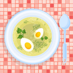 Vector illustration of soup.