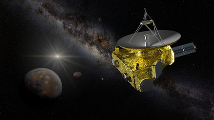 New Horizons approaching Pluto and Charon
