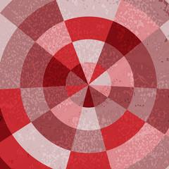 Vintage polar grid background in red gradation