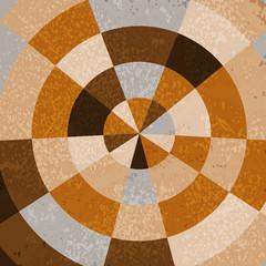Vintage polar grid background in brown gradation