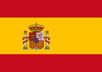 Clean flag of Spain, vector