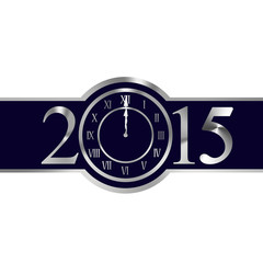New year 2015 concept with clock