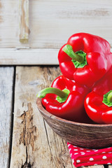 ripe red bell pepper