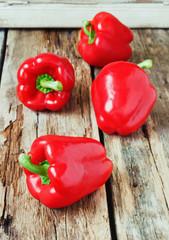 ripe red bell pepper