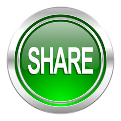 share icon, green button