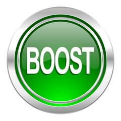 boost icon, green button
