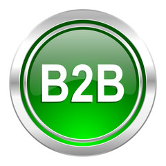 b2b icon, green button
