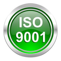 iso 9001 icon, green button