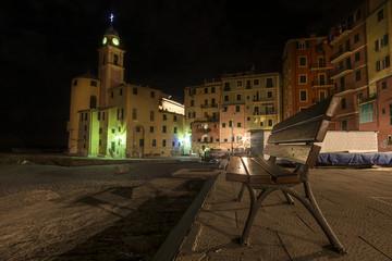 Camogli, piccolo villaggio sul mare in Liguria, Italia