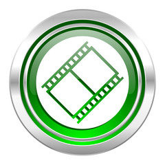 film icon, green button, movie sign, cinema symbol