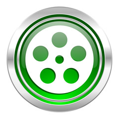 film icon, green button