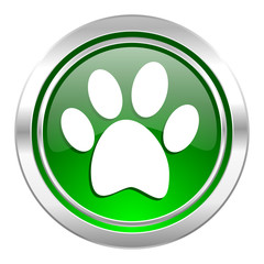 foot icon, green button