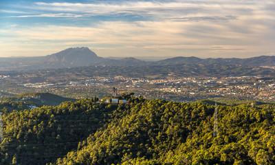 View from Tibidabo mountain - Barcelona, Spain