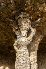 A statue in the Guell Park - Barcelona, Spain