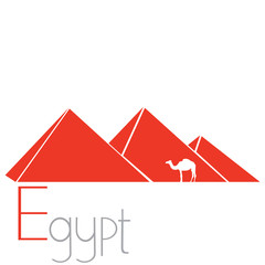 Egyptian pyramids, vector illustration