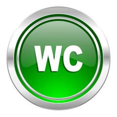 toilet icon, green button, wc sign