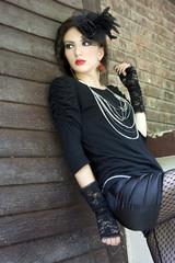 Romantic gothic fashion