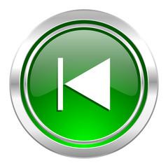 previous icon, green button