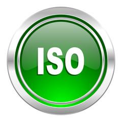 iso icon, green button