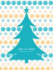 Vector texture circles stripes abstract Christmas tree