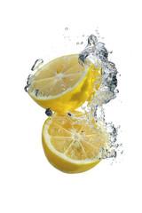 Lemon and water drops