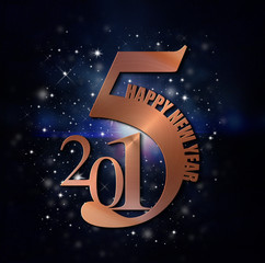 2015 - Kupfer - Happy New Year